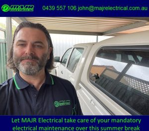 Call MAJR Electrical on 0439 557 106 or email john@majrelectrical.com.au